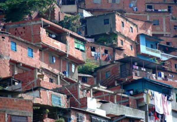 Asentamiento de vivienda sin planificar.